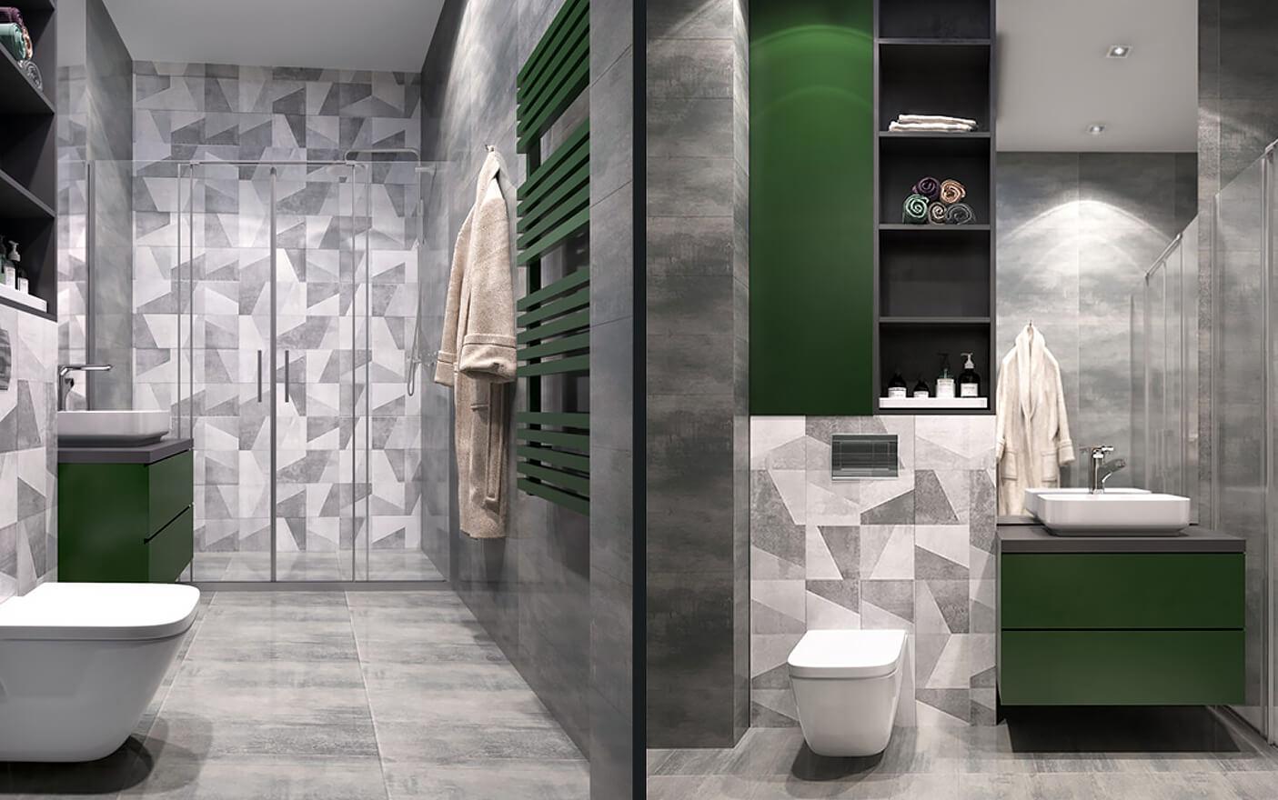 ванна в стилі мінімалізм