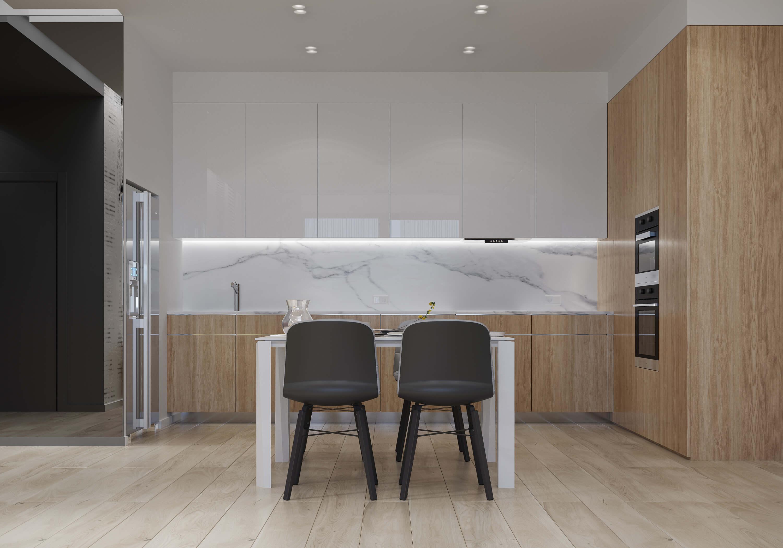 інтер'єр кухні в стилі мінімалізм