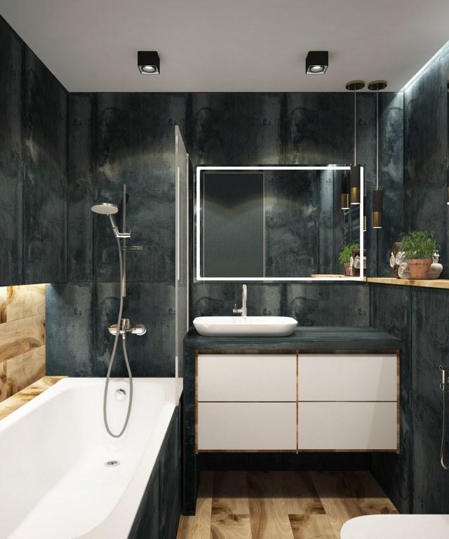 чорний колір в інтер'єрі ванної кімнати